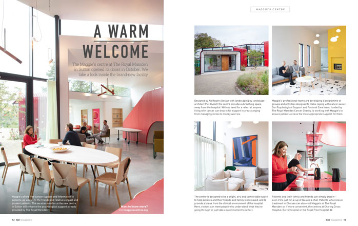 Feature on The Maggie's Centre at The Royal Marsden, Sutton